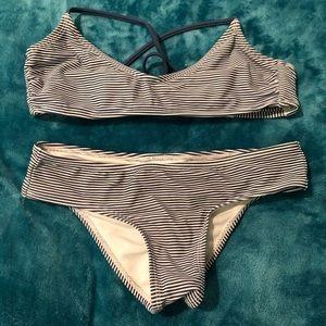 Blue&White Striped Bikini